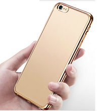 2018 free sample new electroplating clear transparent tpu mobile phone shell for iphone 8 2in1 cover phone case