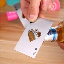 New style custom beer can opener The Spades A Poker wine bottle opener Stainless steel bottle opener