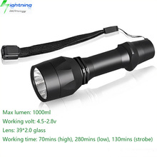 High Quality Aluminum 18650 Rechargeable 5 Modes Portable Mini Torch Flash Light 1000 Lumens CREE XML2 LED Flashlight Kit