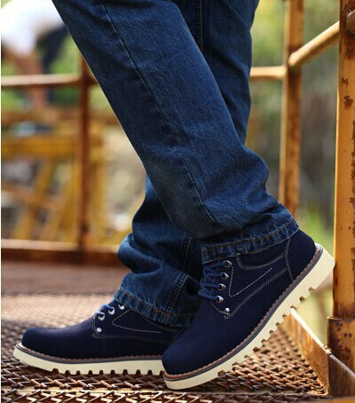 D63255T 2014 winter new style men's leather shoes, keep warm shoes