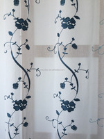 embroidery linen fabric window curtains for hometextile