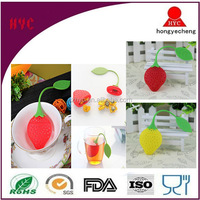 Wholesale BPA Free Cute Fantastic Strawberry Design Loose Tea Infuser