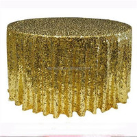 Silver Sequin Tablecloth Hot sale glitter sequin table cloth for wedding printed stretch cover