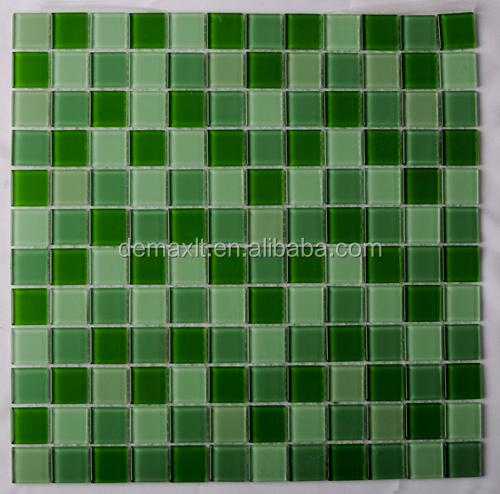 Antibacterial parquet zero water absorption glossy / clear crystal glass mosaic tile