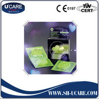 New product competitive natural latex male double one condom