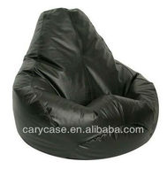 Large Vinyl Teardrop Bean Bag Chair BLACK
