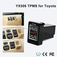 Car Autos Wireless TPMS Tire Pressure Monitoring LED Display 4 External Sensors (Fits: toyota)