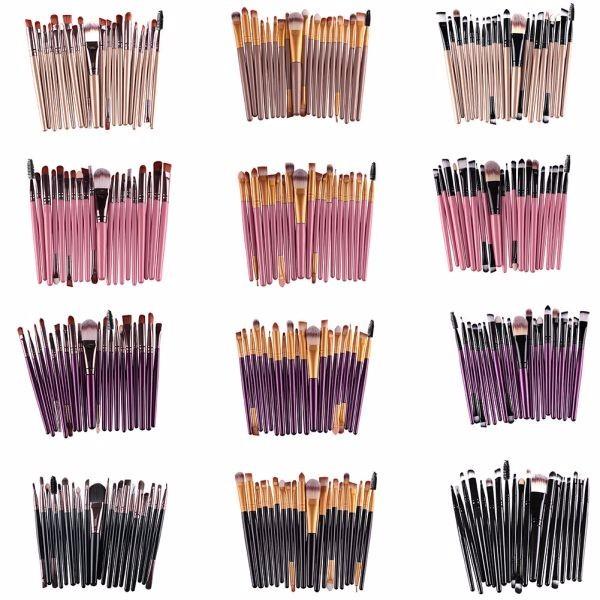 20Pcs Cosmetic Makeup Brushes Set Powder Foundation Eyeshadow Eyeliner Lip Brush Tool Brand Make Up Brushes Beauty Tools Pincel