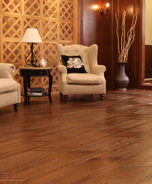 Rustic recycle Reclaimed porcelain flat oak engineered wood parquet flooring