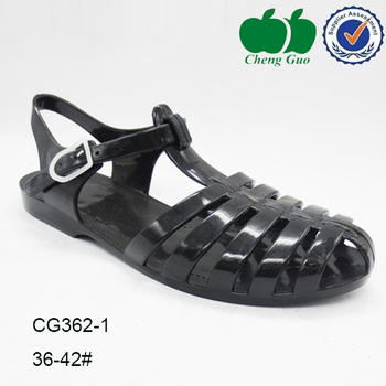latest colorful jelly shoe woman beach sandal for 2014