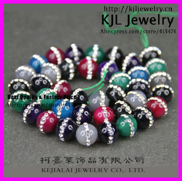 GZKJL-CT0245 Natural Loose gem beads. Mixed colors rhinestone agate beads