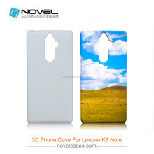 Diy 3D Sublimation Blank Phone Case For Lenovo K8 Note
