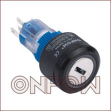 ONPOW Pushbutton switch with key(LAS1-APY-11Y,22mm,Dia.22mm,CE,ROHS,REECH,IP40,IP65)