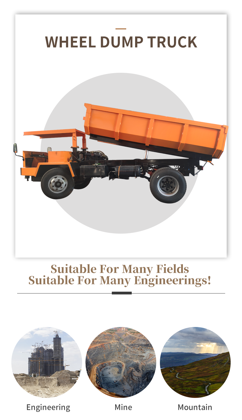 4*4 Wheel Dump Truck with Auto Tipper for Sale