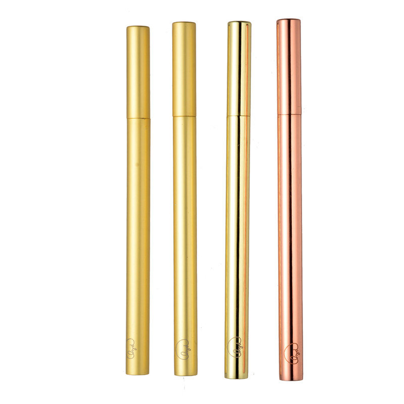 wholesale gift canetas anodized aluminum brass gold ballpoint pens with custom logo