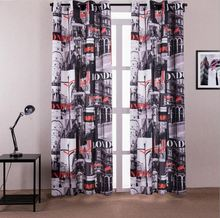 1-Piece Blackout Curtains For Living Room Modern Window Curtain For Bedroom Drapes Kitchen Curtains With Eyelet Machin Washable