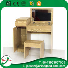 simple design melamine MDF dressing table with stool