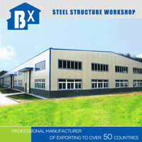 prefab factory building made by steel structure