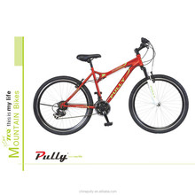 2017 hot sell mt2615 PULLY MTB 26 inch fork suspension 18 speed alloy mountain bike/BICYCLE