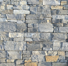 Factory cheap blue quartz stack stone wall cladding and stone panels CZ-N72