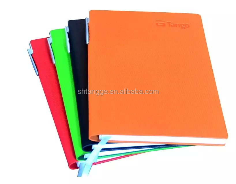 hot popular cheap stationery notebooks with pen holder for hot sale