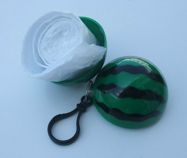 Custom Logo Poncho Ball Disposable Ball Shape Raincoat