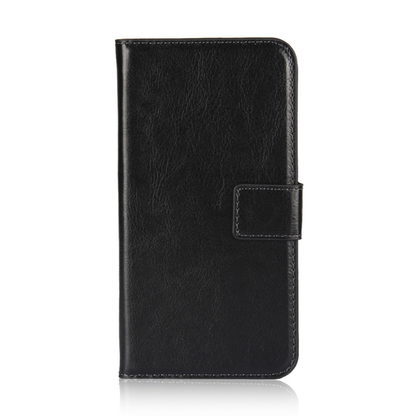 Crazy Horse Pattern Leather Card Slot Wallet Case Folded Magnetic Clip Book Fold Kickstand Cover for iPhone X CA6101