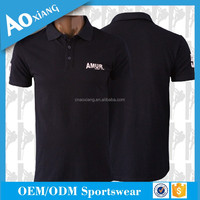 Wholesale new design polo t shirt custom embroidery logo black cotton polo shirt