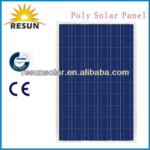 easy installed hot sale 100w poly photovoltaic module