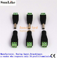 male female connectors for led strip light 3528 5050 adapter power supply