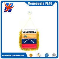"National Stock Venezuela 8 Star Mini Flag 4""x6"" Window Banner w/ suction cup"