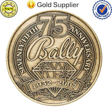 The most popular design custom metal logo gold /silver /bronze coin