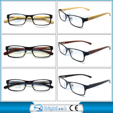 Great appreciated sturdy metal frame and bamboo temple reading glasses MOQ 1200pcs meet CE/FDA BRM3955