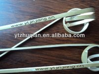 Promotion natural green top grade hot stamp bamboo knot sticks use fruit or food