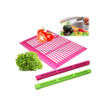 Silicone Roll-Up Dish Drying Mat Draining Rack