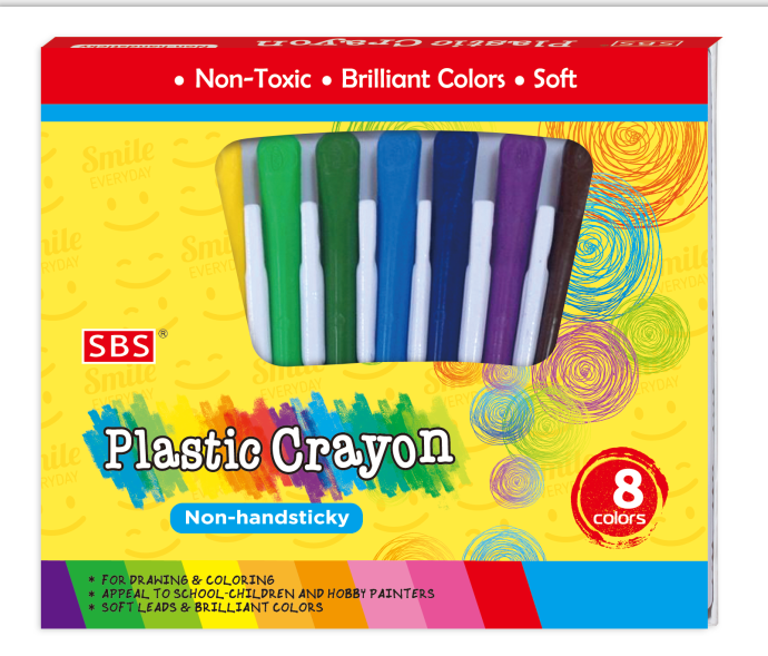 non-toxic 12colors wax crayon back to school