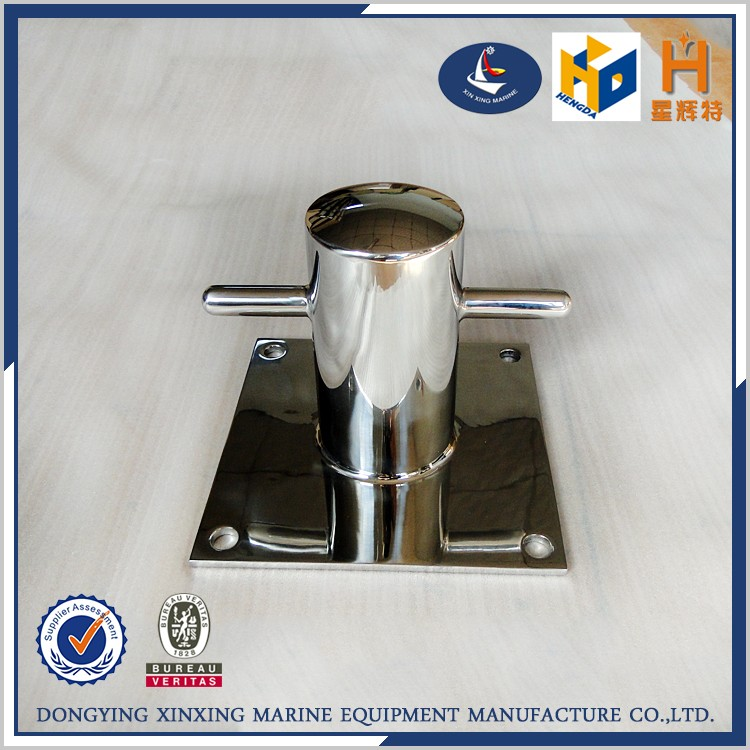 High polished cross bollard double for boat