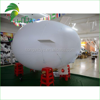3m Inflatable Costume Zeppeline, Remote Control White Airship, RC Inflatable Blimp for Outdoor