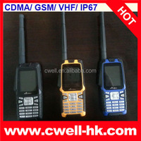 CDMA/GMS IP67 Waterproof mobile phone with walkie talkie VHF 3.0MP Camera, 3000mAh Battery and Strong Signal Olive W18
