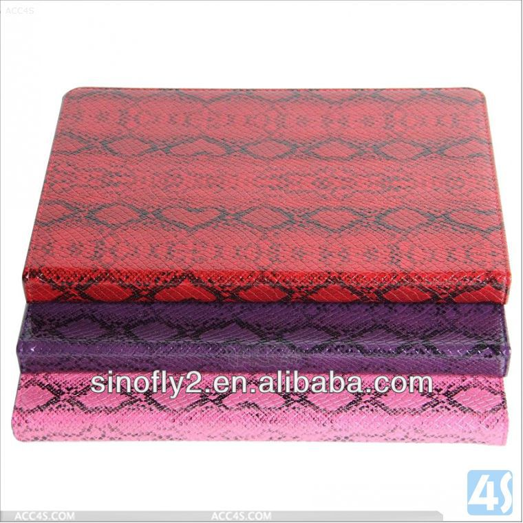 Snake skin leather case for ipad air P-IPD5CASE108