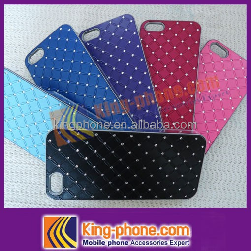 Bling bling plastic mobile phone case for iphone 5 with diamond