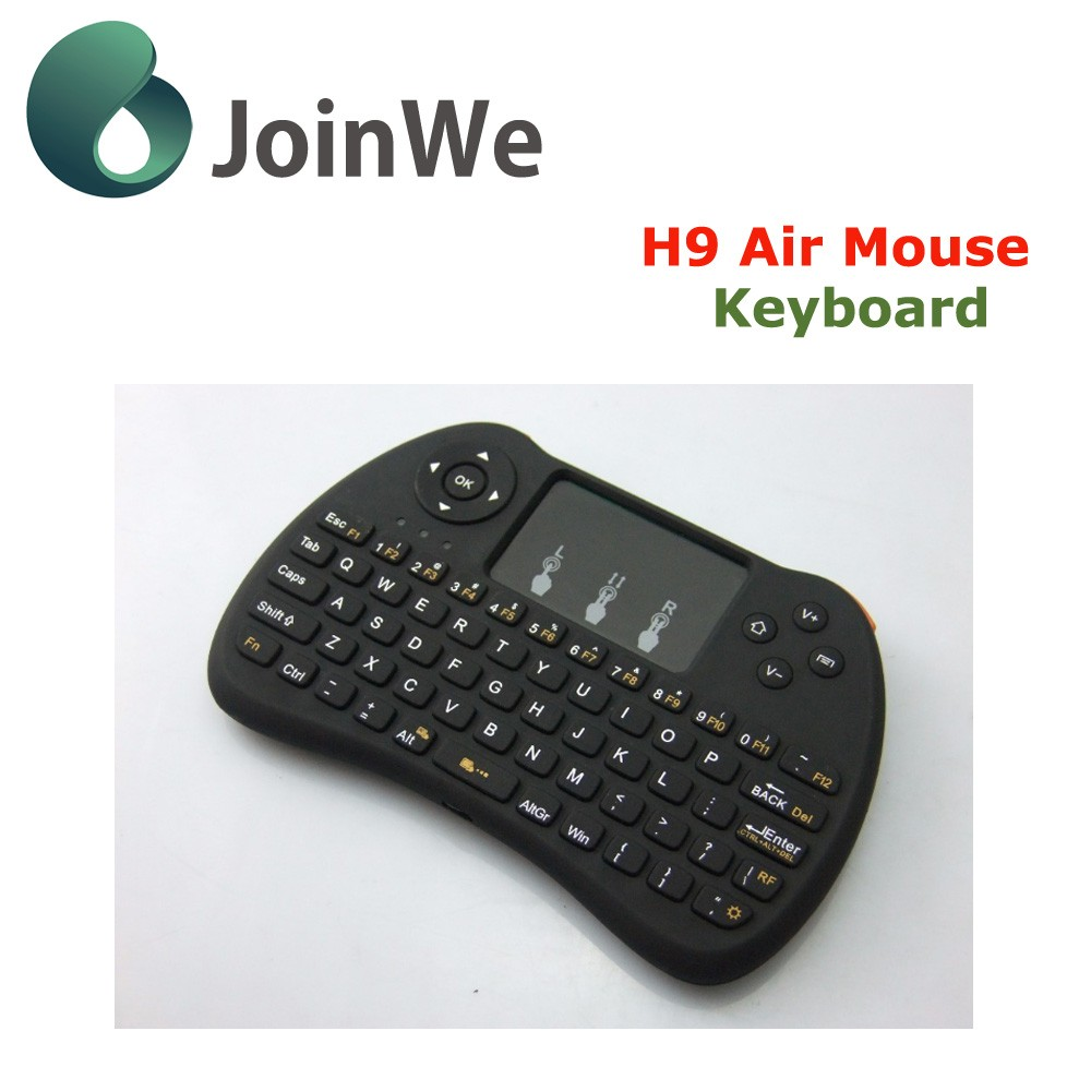 2016 New Products Fly Mouse Backlit Keyboard H9+ Wireless 2.4g Usb Keyboard And Mouse