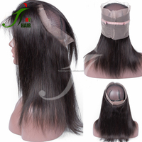 Express Ali Buy Human Hair Online Indian Hair Raw Unprocessed Virgin Straight 360 Frontal Lace Closure with Bundles