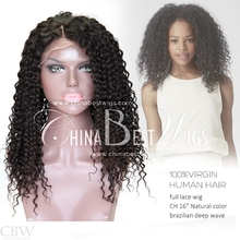 Chinese Virgin Hair Natural Hairline Full Lace Wig Virgin Brazilian Hair Free Sample