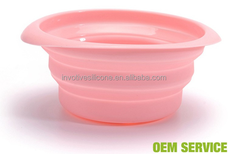 Custom Brand Logo Unbreakable Microwave Safe Silicone Bowls