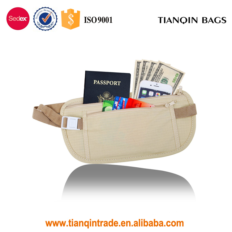 Travel Money Pack Belt Very Thin Light Invisible Safe Waist Bag