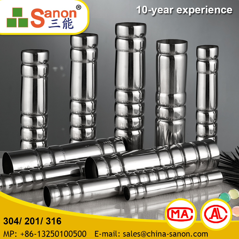 Lowest Price Sanon Stainless Steel Flexible Pipe With Yellow Cover