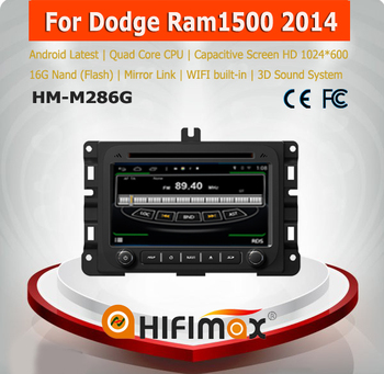 HIFIMAX Car Radio DVD Player For Dodge Ram 1500 (2013-2014) in Car Dashboard 1G ram 16G rom Android 4.4.4 TV Wifi 3G Bluetooth