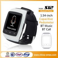 Christmas Gift China 1.54'' MTK Call Music Pedometer Smart Wrist Watch