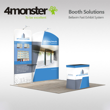 aluminum tube pop up trade show 3*3 3*6 standard exhibition booth for expo display stand